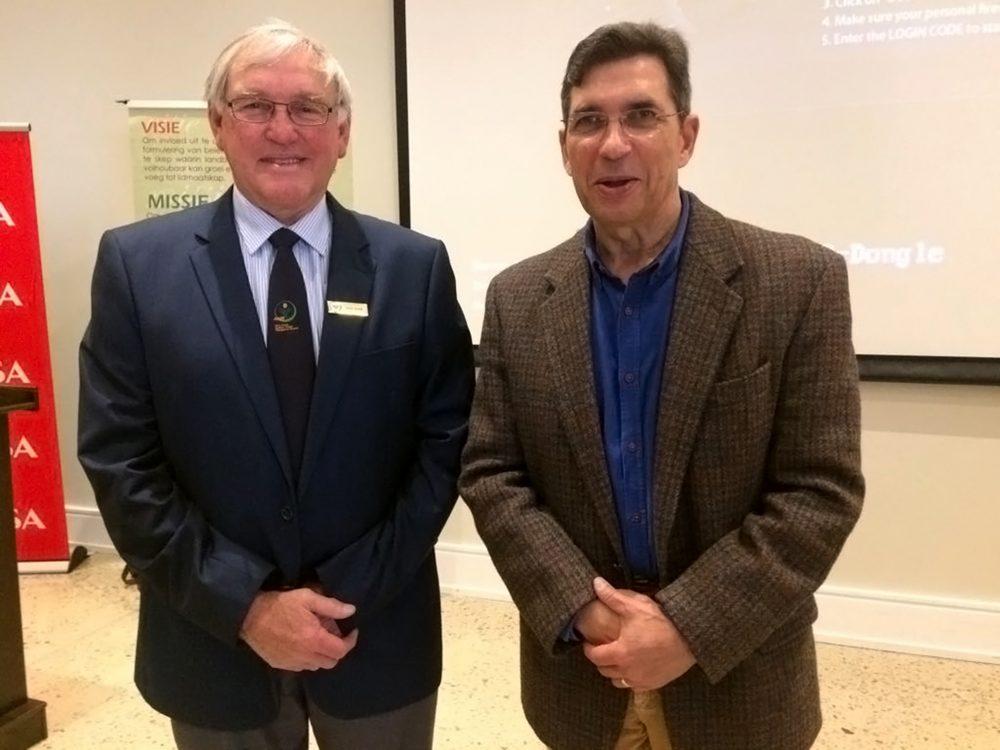 Doug Stern and television journalist Freek Robinson
