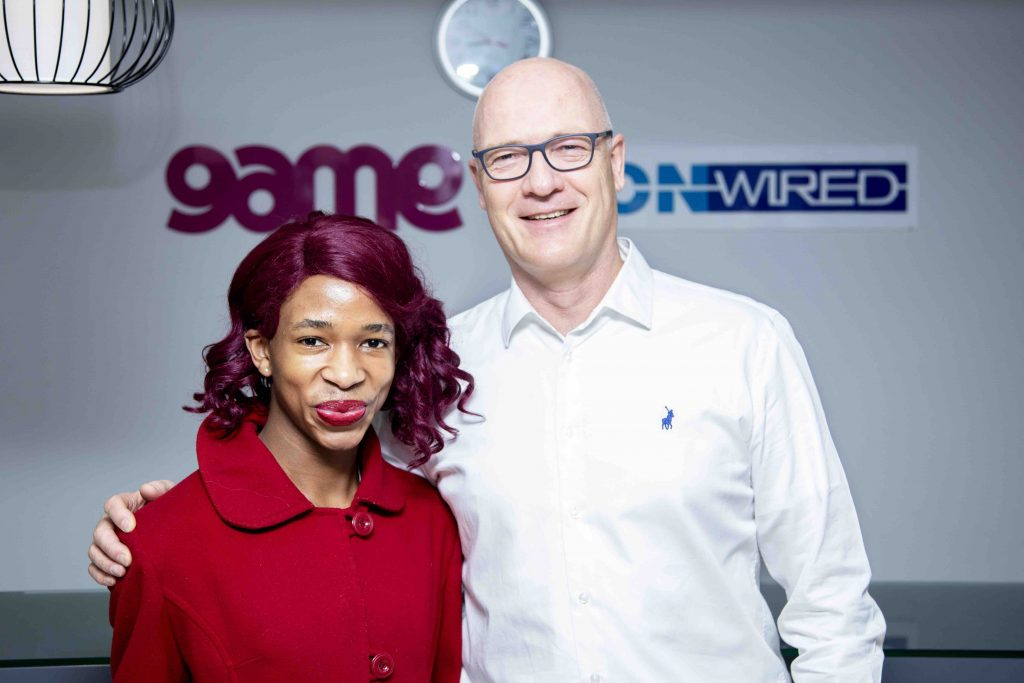 TV and Social media personality Lasizwe with MassDiscounters CEO Alvert Voogd