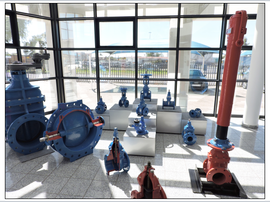 Some of the valves on display at the Academy at AVK Southern Africa's headquarters in Johannesburg