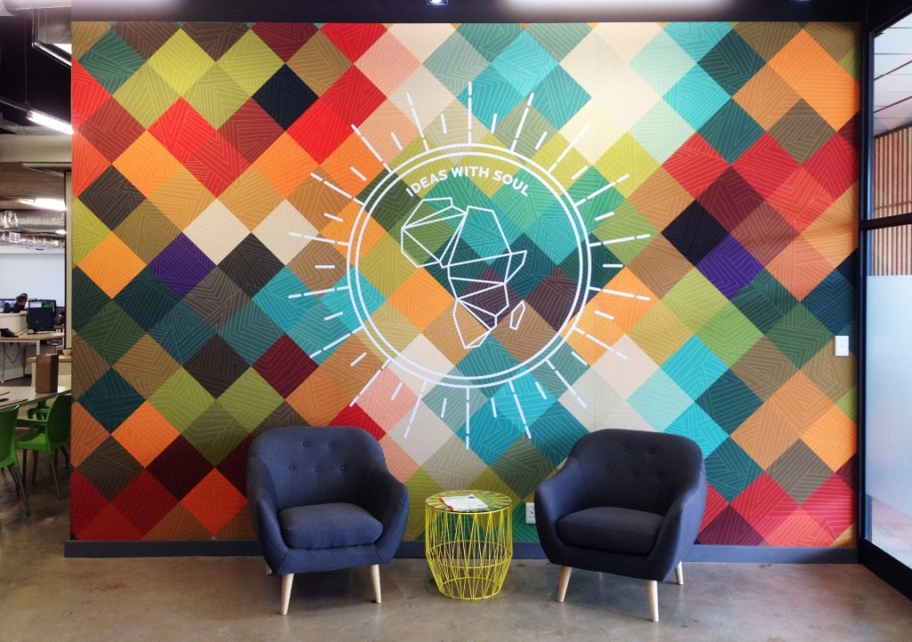 CANVEX customised wall canvas transforms interior walls into branding statements, billboards, huge artworks or creative backdrops. Photo: Supplied by Expand a Sign and CANVEX